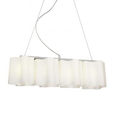 Aca Τετράφωτο Κρεμαστό Φωτιστικό Λευκό (W14794)