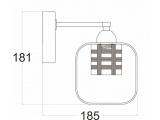 Aca Επιτοίχιο Φωτιστικό Χρώμιο (FW50281)