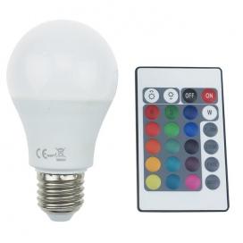 Λάμπα SMD LED 8W E27 RGBW (A608RGBW)