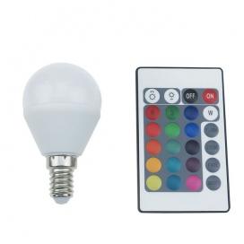 Λάμπα SMD LED Ball 4W E14 RGBW (G45414RGBW)