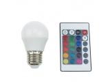 Λάμπα SMD LED Ball 4W E27 RGBW (G45427RGBW)