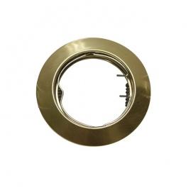 Σποτ Χωνευτό Στρογγυλό Σταθερό MR16 & GU10 Χρυσό Ματ (AC.0451042GM)
