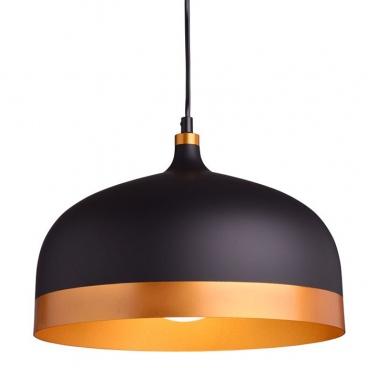 Aca Κρεμαστό Φωτιστικό Μαύρο - Χρυσό (KS1756PBG)