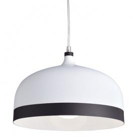 Aca Κρεμαστό Φωτιστικό Λευκό - Μαύρο (KS1756PWB)
