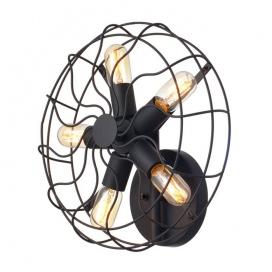 Aca Επιτοίχιο Φωτιστικό Μαύρο (V352715W)