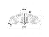 Aca Κρεμαστό Πεντάφωτο Φωτιστικό Πατίνα (EG165885C)