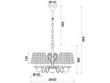 Aca Κρεμαστό Πεντάφωτο Φωτιστικό Μαύρο - Χάλκινο (EG169755PBC)