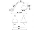 Aca Επιτοίχιο Δίφωτο Φωτιστικό Μαύρο - Ασημί (EG168872WB)