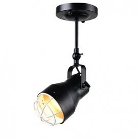 Aca Μονόφωτο Φωτιστικό Οροφής - Τοίχου Μαύρο - Λευκό (EG169901CB)