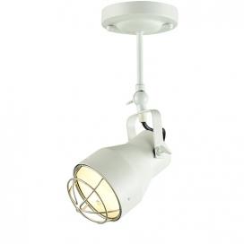 Aca Μονόφωτο Φωτιστικό Οροφής - Τοίχου Λευκό - Ασημί (EG169901CW)
