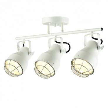 Aca Τρίφωτο Φωτιστικό Οροφής - Τοίχου Λευκό - Ασημί (EG169903CW)