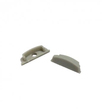 Σετ πλαστικές τάπες 2 τεμ. με & χωρίς τρύπα για προφίλ P114 (EP114)