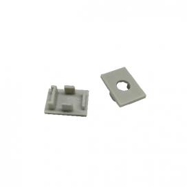 Σετ πλαστικές τάπες 2 τεμ. με & χωρίς τρύπα για προφίλ P79 (EP79)