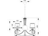 Aca Κρεμαστό Τρίφωτο Φωτιστικό Οροφής (TNK81490CR3P)