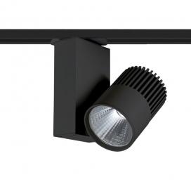 Aca Σποτ ράγας LED COB 2 καλωδίων 15W 4000K Μαύρο (BIENAL1540B2)
