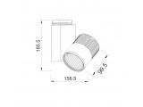 Aca Σποτ ράγας LED COB 2 καλωδίων 30W 3000K Λευκό (BIENAL3030W2)