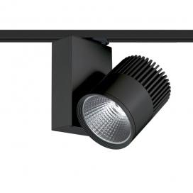 Aca Σποτ ράγας LED COB 2 καλωδίων 30W 4000K Μαύρο (BIENAL3040B2)