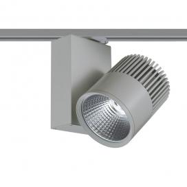 Aca Σποτ ράγας LED COB 2 καλωδίων 30W 3000K Γκρι (BIENAL3030G2)