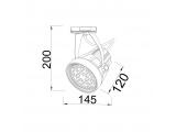 Aca Σποτ ράγας 2 καλωδίων E27 PAR30 Γκρι (SPYDIE27G)