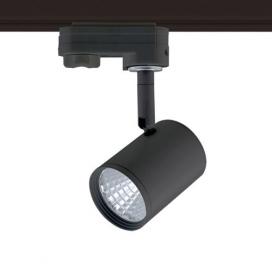 Aca Σποτ ράγας LED COB 4 καλωδίων 7W 4000K Μαύρο (ZUNO740B4)