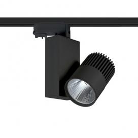 Aca Σποτ ράγας LED COB 4 καλωδίων 15W 4000K Μαύρο (BIENAL1540B4)