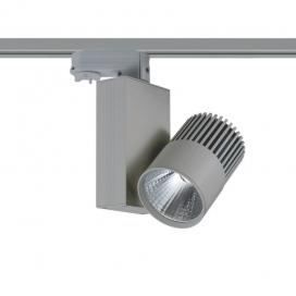 Aca Σποτ ράγας LED COB 4 καλωδίων 15W 3000K Γκρι (BIENAL1530G4)