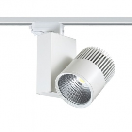 Aca Σποτ ράγας LED COB 4 καλωδίων 30W 3000K Λευκό (BIENAL3030W4)