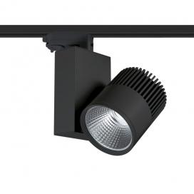 Aca Σποτ ράγας LED COB 4 καλωδίων 30W 3000K Μαύρο (BIENAL3030B4)