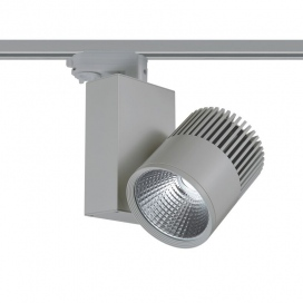 Aca Σποτ ράγας LED COB 4 καλωδίων 30W 3000K Γκρι (BIENAL3030G4)