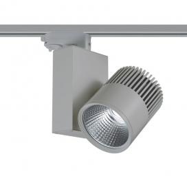 Aca Σποτ ράγας LED COB 4 καλωδίων 30W 4000K Γκρι (BIENAL3040G4)