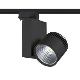 Aca Σποτ ράγας LED COB 4 καλωδίων 45W 3000K Μαύρο (BIENAL4530B4)