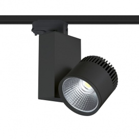 Aca Σποτ ράγας LED COB 4 καλωδίων 45W 4000K Μαύρο (BIENAL4540B4)
