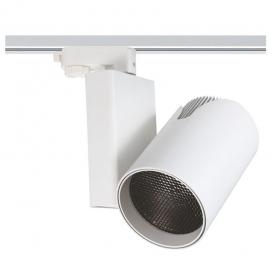 Aca Σποτ ράγας LED COB 4 καλωδίων 35W 3000K Λευκό (DANTE3530W4)