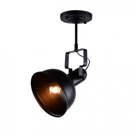 Aca Μονόφωτο Φωτιστικό Οροφής - Τοίχου Μαύρο (EG167071CB)