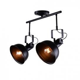 Aca Δίφωτο Φωτιστικό Οροφής - Τοίχου Μαύρο (EG167072CB)