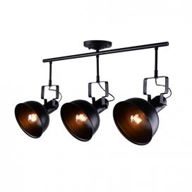 Aca Τρίφωτο Φωτιστικό Οροφής - Τοίχου Μαύρο (EG167073CB)