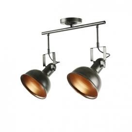 Aca Δίφωτο Φωτιστικό Οροφής - Τοίχου Σκουριά (EG167072CR)