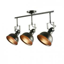 Aca Τρίφωτο Φωτιστικό Οροφής - Τοίχου Σκουριά (EG167073CR)