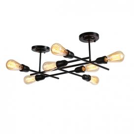 Aca Eπτάφωτο Φωτιστικό Οροφής - Τοίχου Μαύρο (EG166597WB)