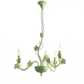 Aca Τρίφωτο Κρεμαστό Φωτιστικό Πράσινο (EG170603PG)