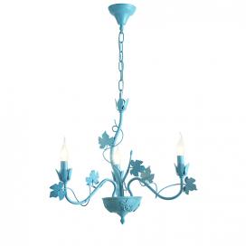 Aca Τρίφωτο Κρεμαστό Φωτιστικό Μπλε (EG170603PB)