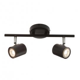 Aca Spot Οροφής 2 Φώτων Μαύρο (SUH1892TB)