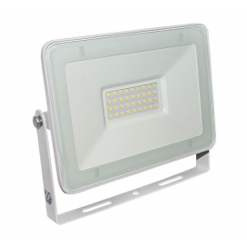 LED SMD Λευκός προβολέας αλουμινίου 30W 120° 3000K (3-373000)