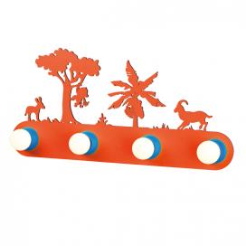 """Aca Επιτοίχιο Παιδικό Φωτιστικό """"Ζούγκλα"""" (ZN170114WO)"""