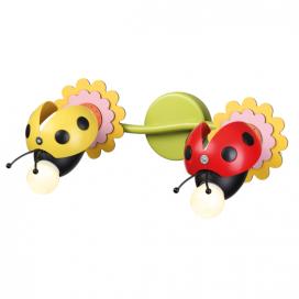 "Aca Παιδικό Δίφωτο Φωτιστικό Οροφής - Τοίχου ""Μέλισσα"" (ZN170162WRY)"