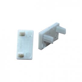 Σετ πλαστικές τάπες 2 τεμ. με & χωρίς τρύπα για προφίλ P0 (EP0)