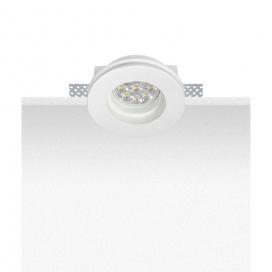 Zambelis Lights Χωνευτό Στρογγυλό Φωτιστικό Λευκό (S027)
