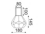 Aca Επιτραπέζιο Φωτιστικό Κεχριμπάρι - Ορειχάλκινο (V371481TA)