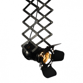 Aca Φωτιστικό Οροφής Μαύρο (OD91131CB)