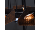 Aca Κρεμαστό Εξάφωτο Φωτιστικό Μαύρο - Χάλκινο (EG166126PBC)